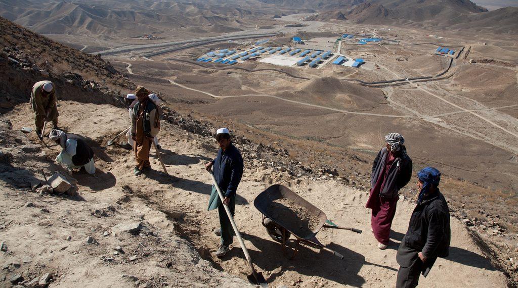 Minería tradicional en Mes Aynak (Afganistán)