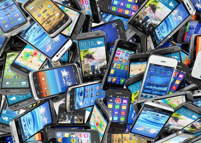 Teléfonos móviles desechados