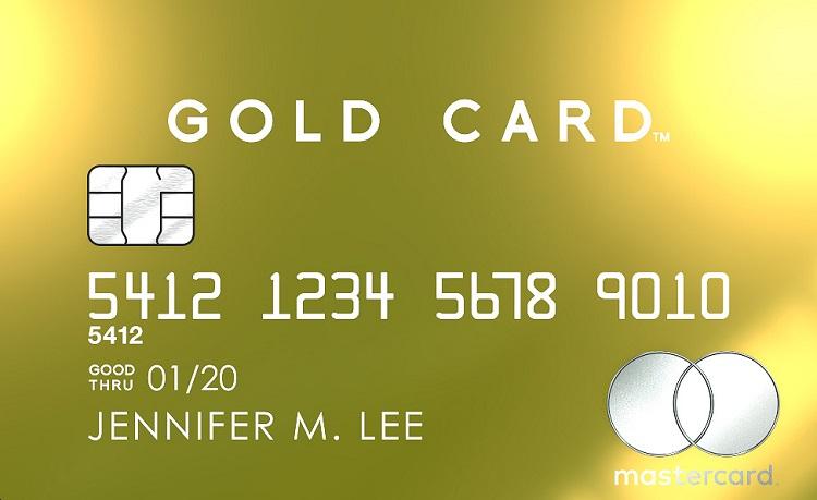 Tarjeta de crédito de oro de 18 quilates