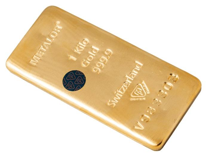 Lingote de oro con sistema Bullion protect