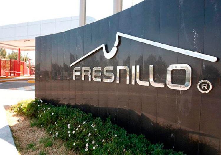 Rótulo de la empresa minera mexicana Fresnillo