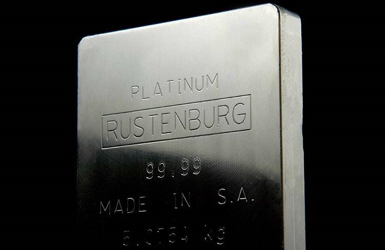 Lingote de platino sudafricano