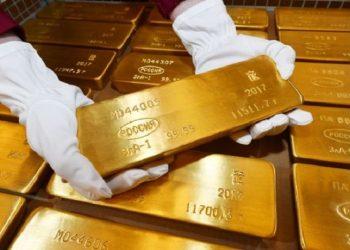 Lingotes de oro del Banco Central de Rusia