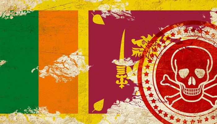 Recurso terrorismo y bandera de Sri Lanka