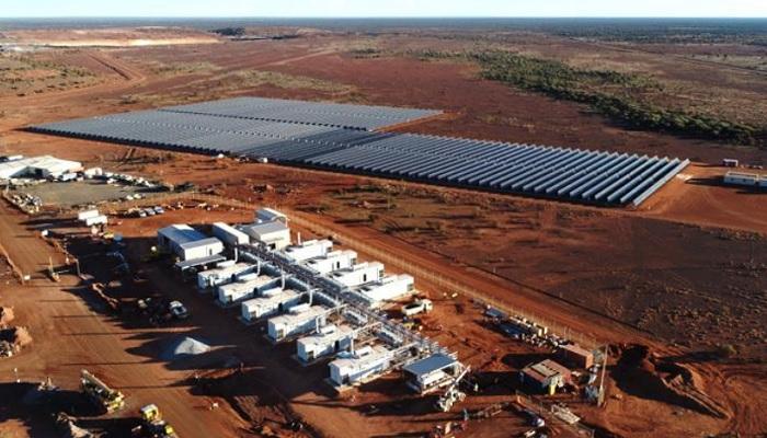 Paneles solares en la mina de oro de Agnew (Australia)