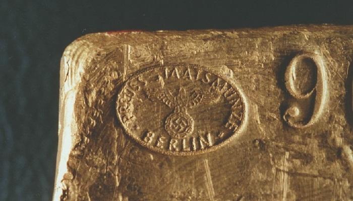 Lingote de oro con la marca del III Reich