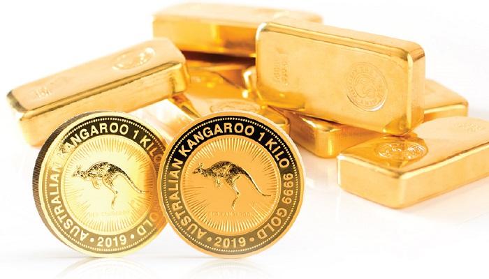 Lingotes y monedas de oro de la Perth Mint