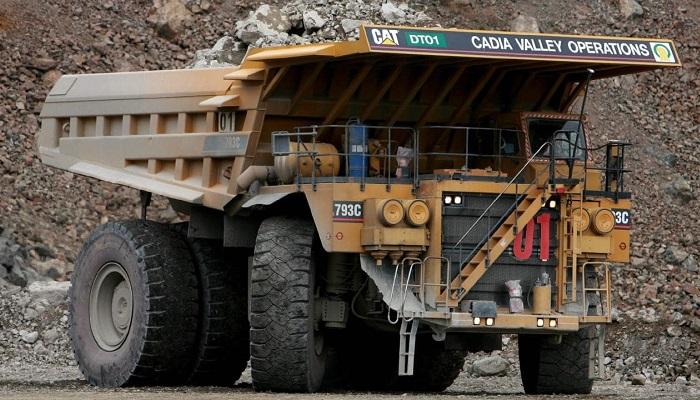 Camión de la mina de Cadia Valley (Australia)