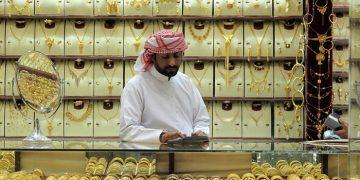 Comerciante en el Zoco del Oro de Dubai