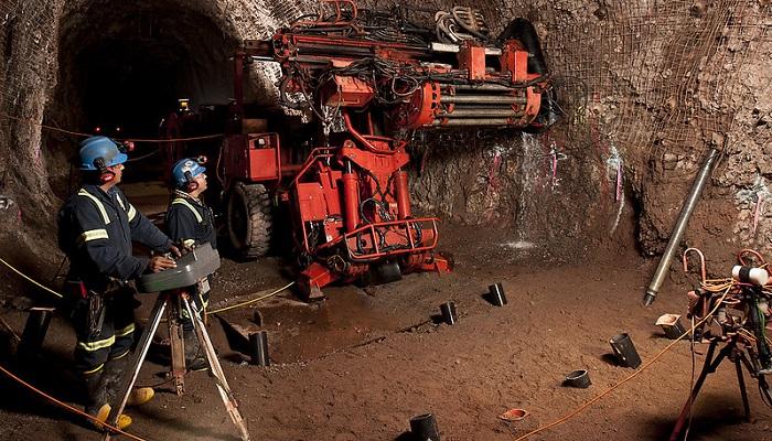 Trabajadores en la mina de oro de Pinos Altos (México)