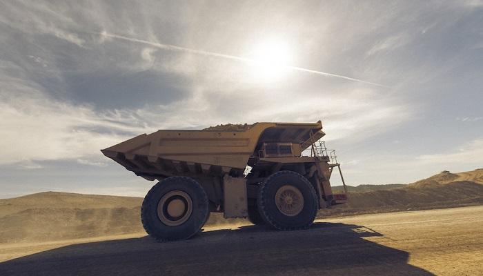 Camión en la mina de Bald Mountain, explotada por Kinross Gold