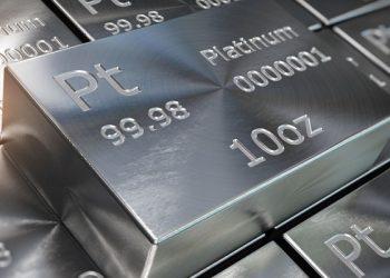 Lingote de 10 onzas de platino