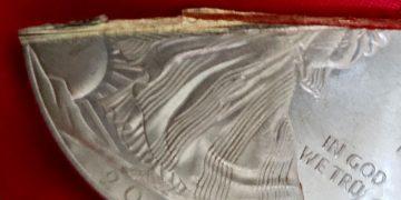 American Eagle de plata falso