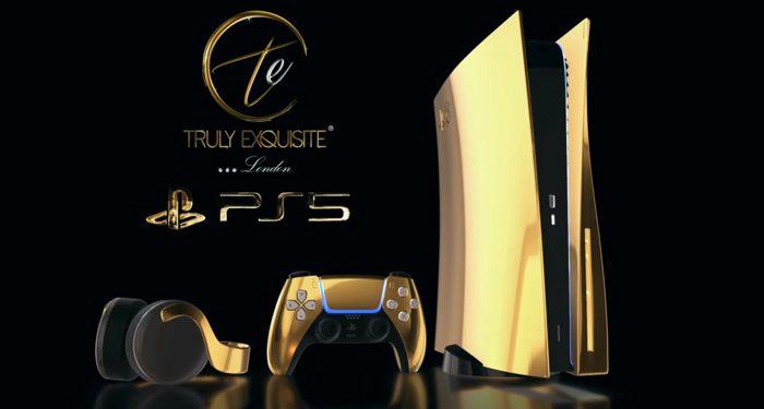 """Truly Exquisite pondrá a la venta una """"PlayStation 5"""" bañada en oro de 24 quilates"""