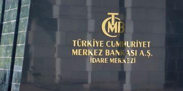Rótulo de la entrada al Banco Central de Turquía, en Ankara