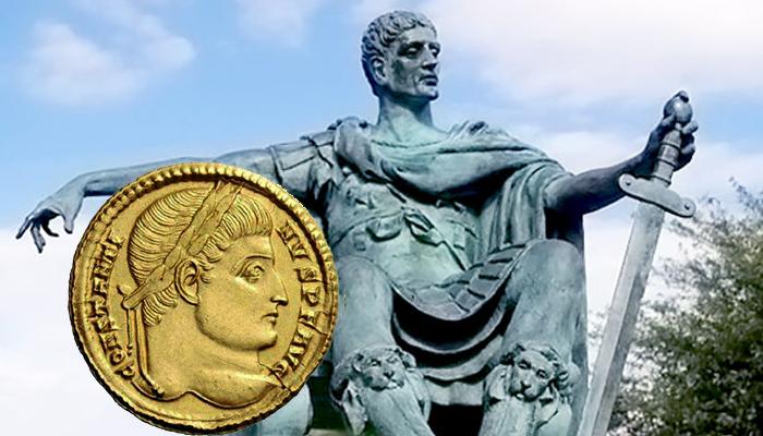 """La creación del sólido romano, el """"dólar"""" de oro de la Antigüedad obra de Constantino I - Oroinformación"""