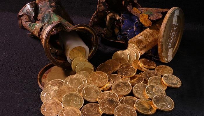 Krugerrand de oro encontrados en Milton Keynes (Reino Unido)