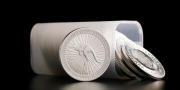Tubo de bullion Canguro de una onza de plata