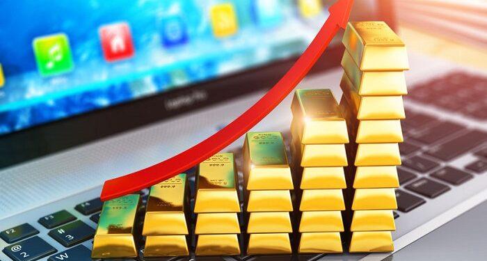 Subida del precio del oro