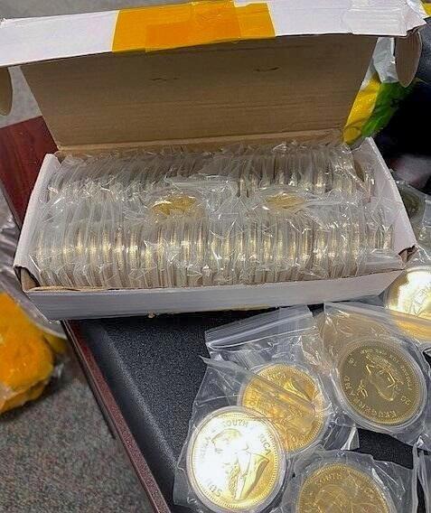 Krugerrand falsos incautados por el Servicio de Aduanas de EEUU