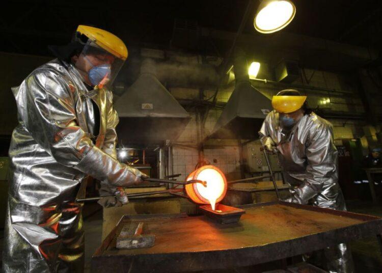 Producción de doré en la mina de Voro (Rusia)
