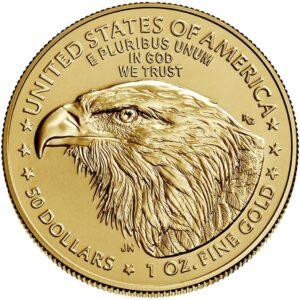 Reverso del American Eagle de una onza de oro 2021