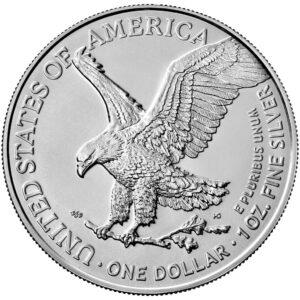 Reverso del nuevo American Eagle de una onza de plata 2021
