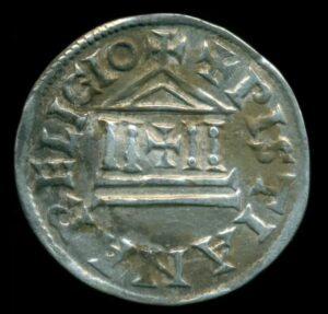 Moneda carolingia de plata hallada en Polonia