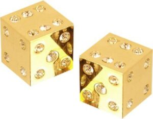 Dados de casino de oro
