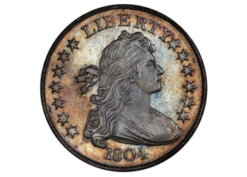 Anverso del dólar de plata de 1804