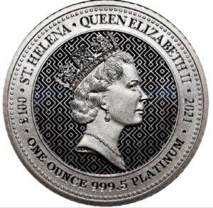 Anverso de la moneda de platino dedicada a la Victoria