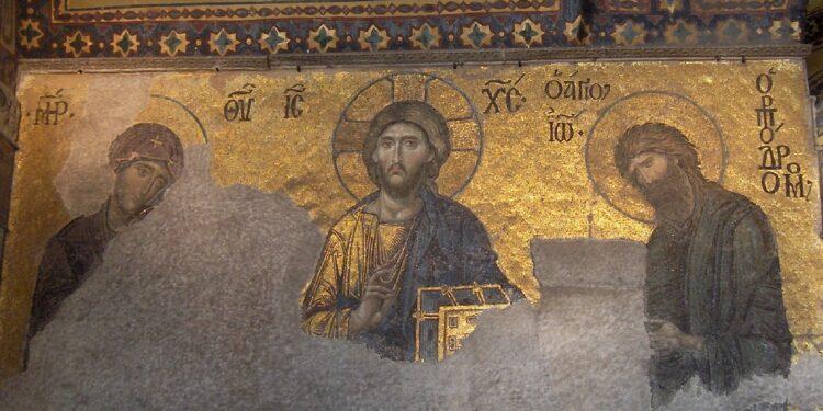 Mosaico bizantino del Suplicio (Basílica de Santa Sofía)