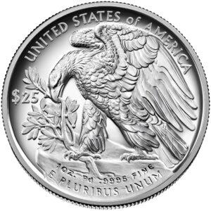Reverso del American Eagle de paladio 2021