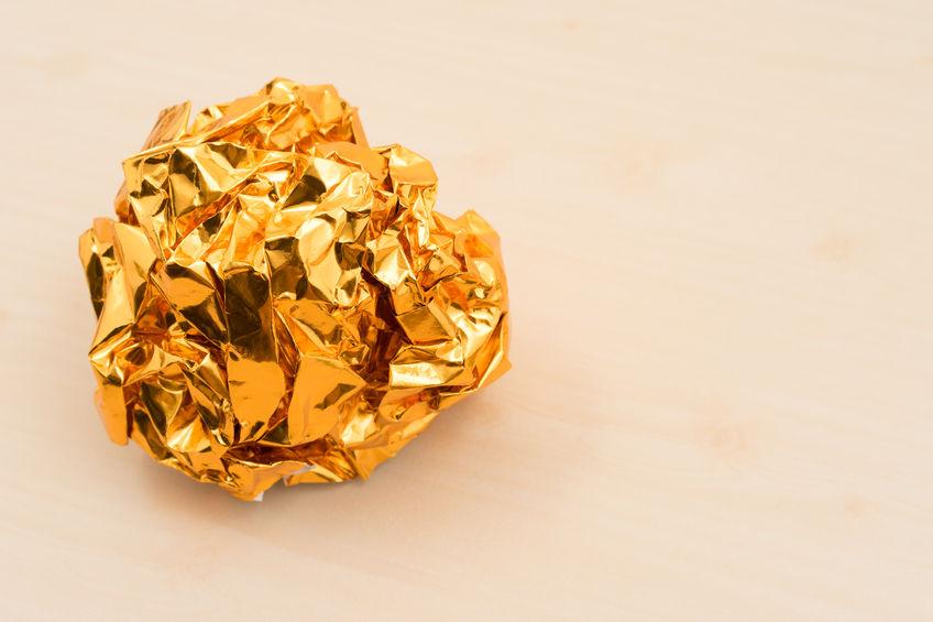 Representación del oro papel